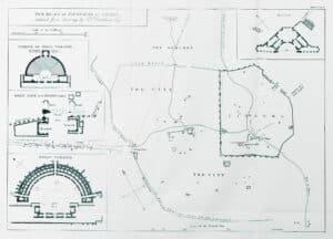 Χάρτης της πόλης. Thomas Leverton Donaldson, 1835