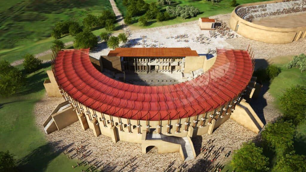 Αναπαράσταση του Θεάτρου: ο περιμετρικός τοίχος