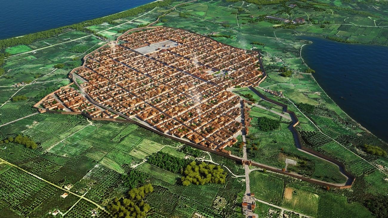 Εικονική αναπαράσταση της ρωμαϊκής πόλης