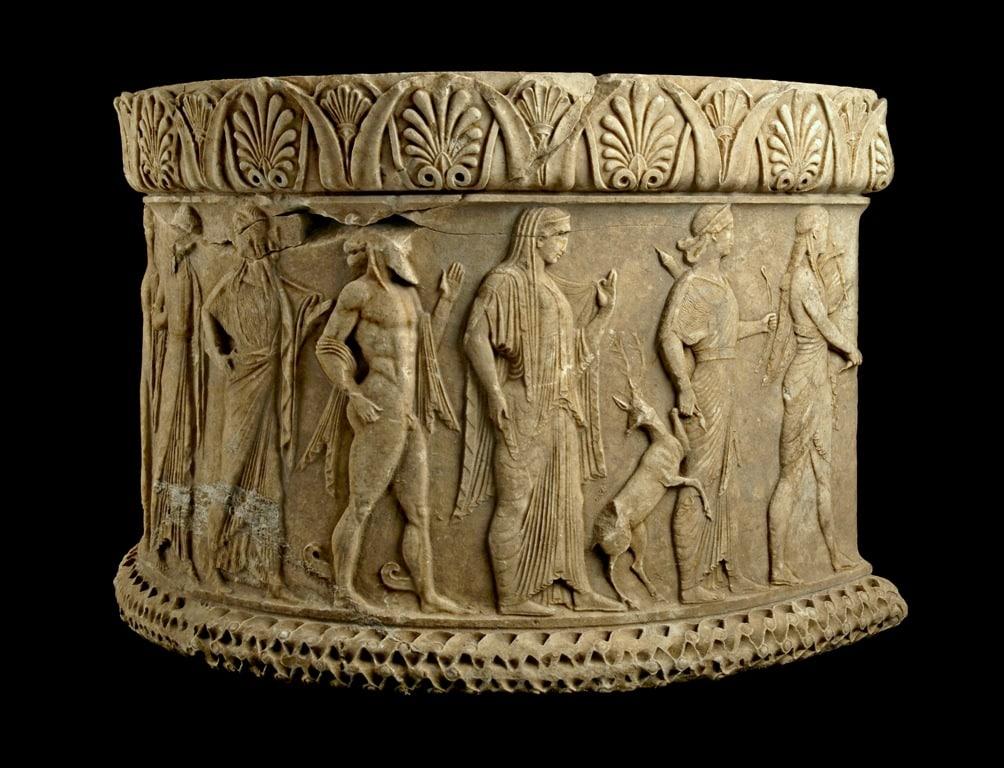 Relief altar depicting gods