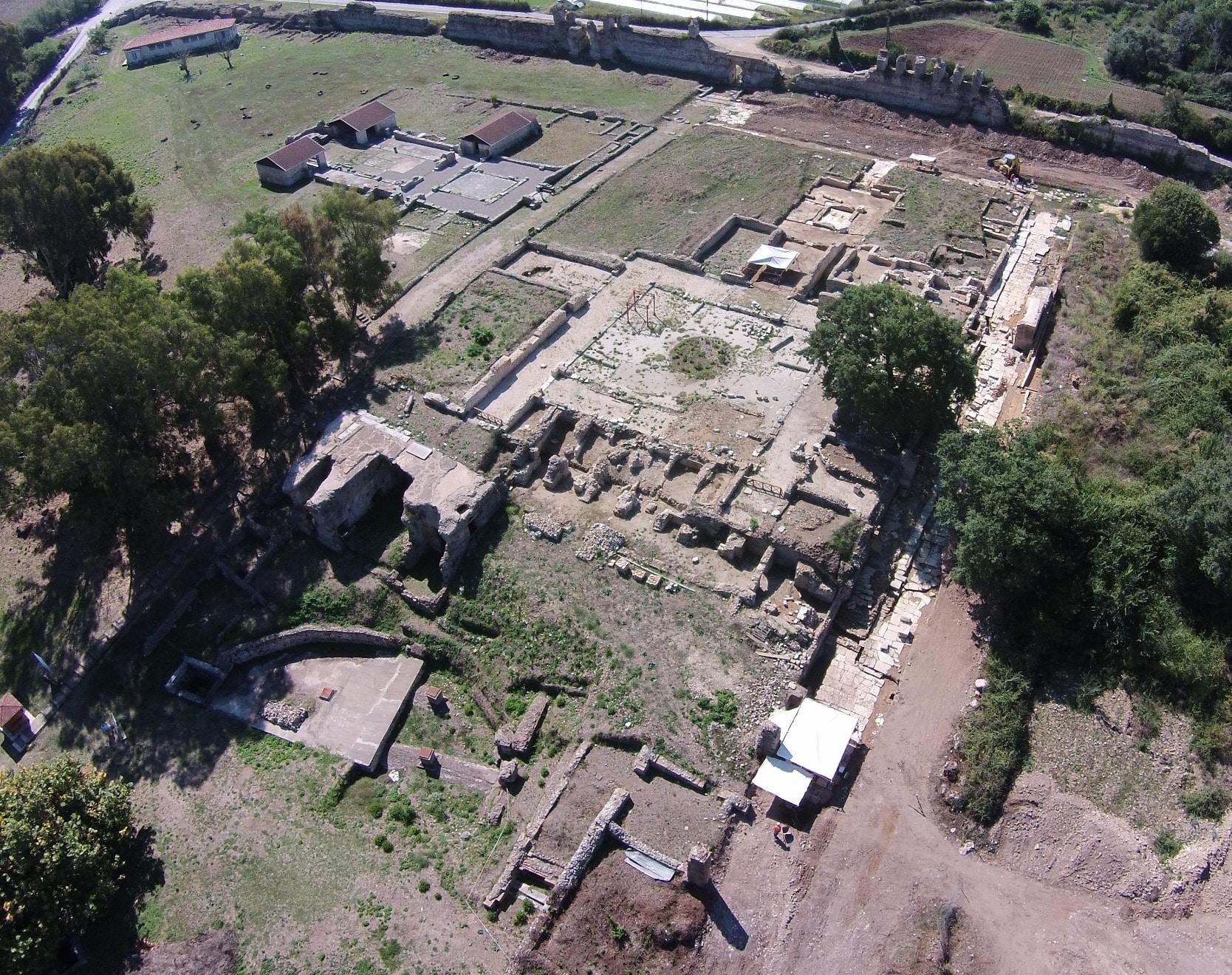 Aerial photo of the domus of ekdikos Georgios