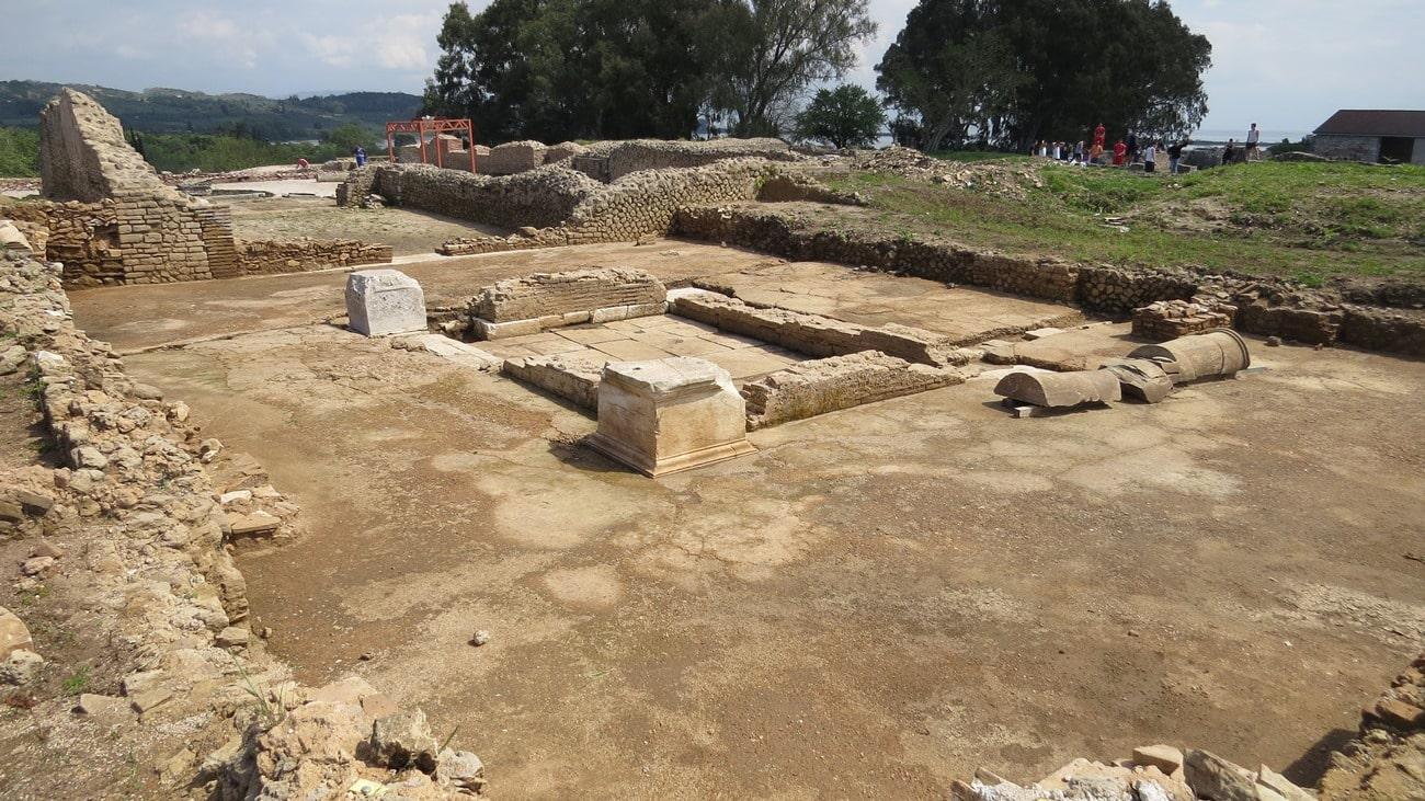 The domus's atrium with its pool