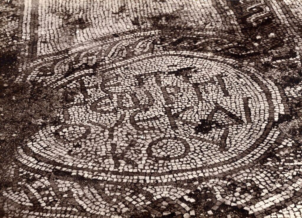 Mosaic floor with the name of ekdikos Georgios