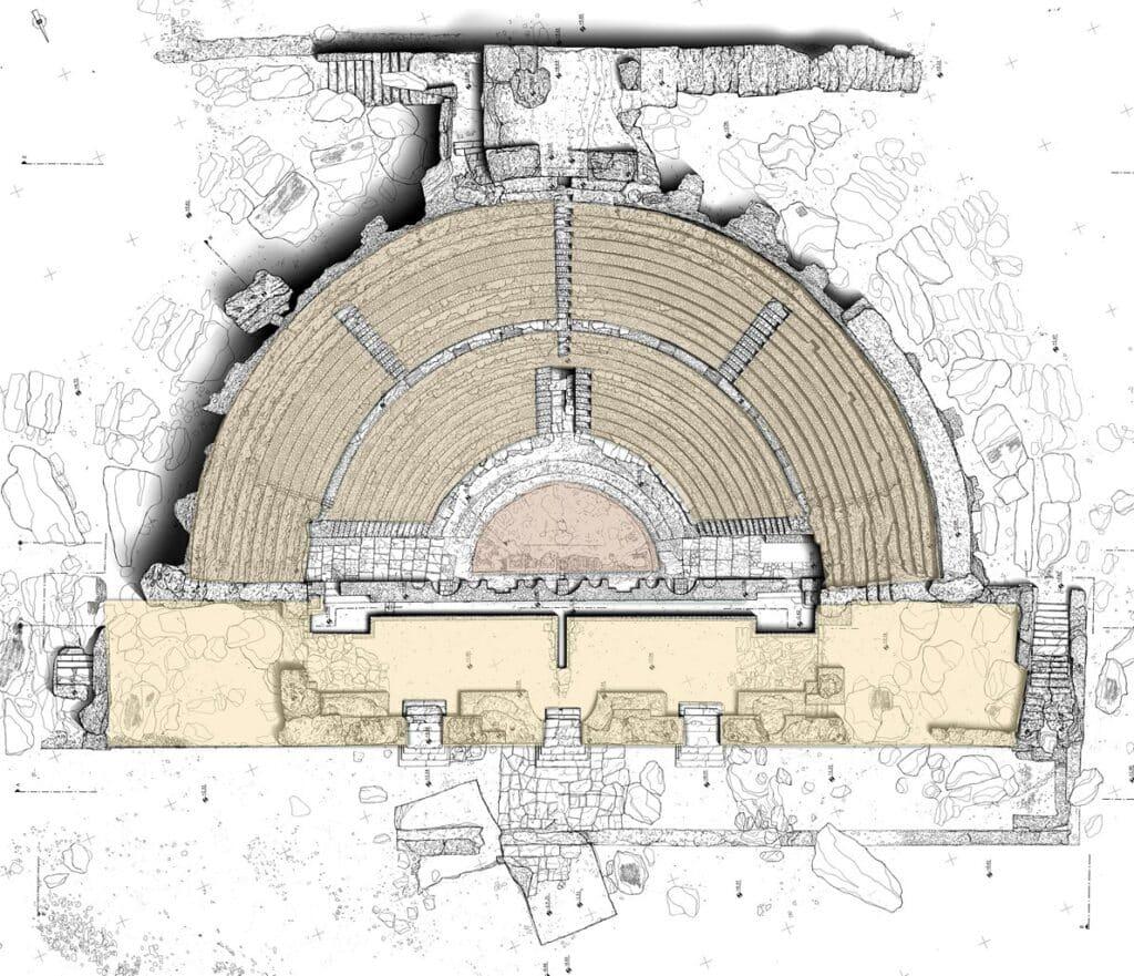 Σχεδιαστική κάτοψη του Ωδείου