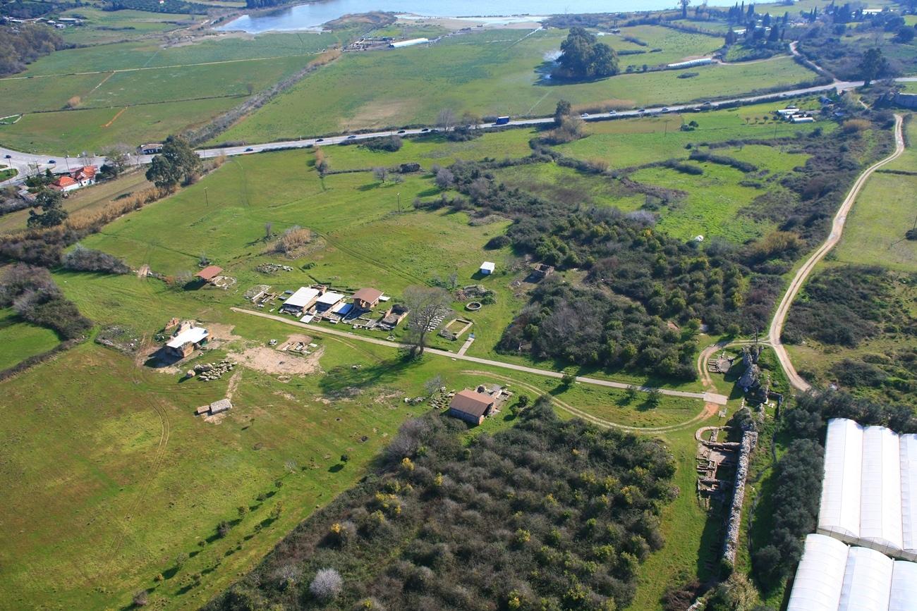 Αεροφωτογραφία της Βόρειας νεκρόπολης