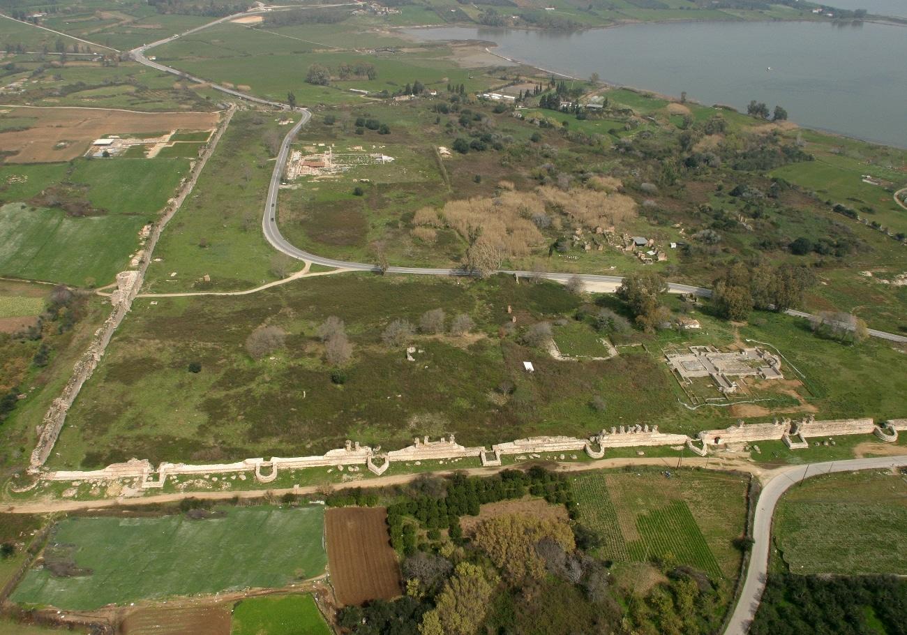 Αεροφωτογραφία των τειχών