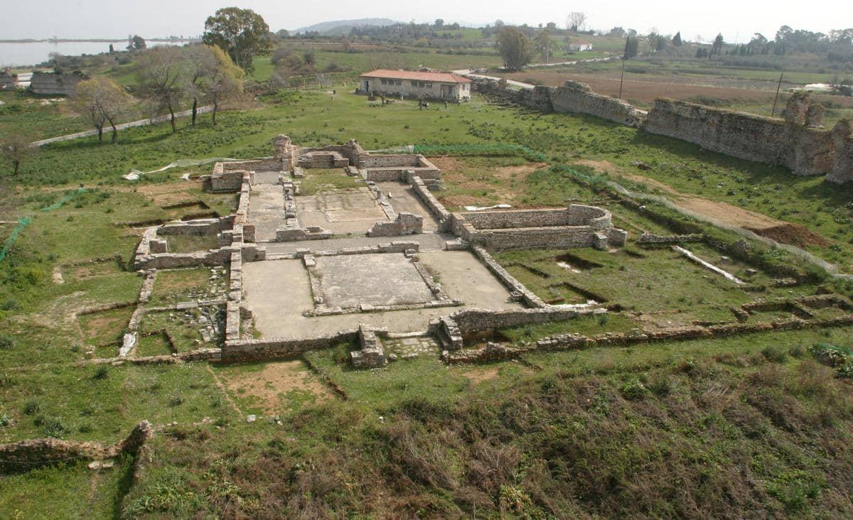 Aerial photo of Basilica A