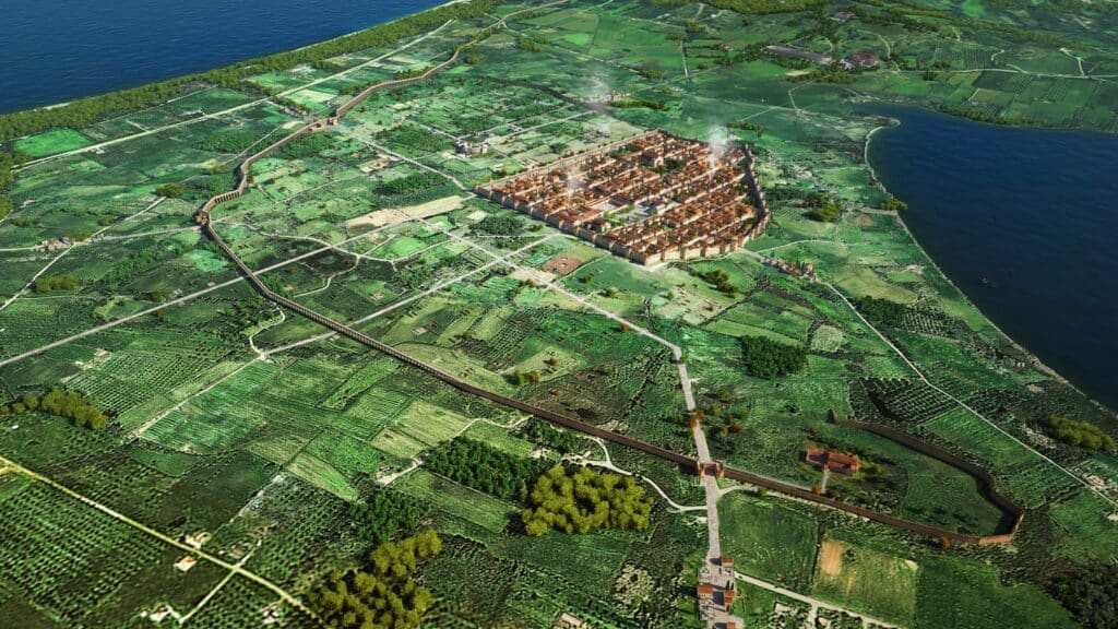 Αναπαράσταση της παλαιοχριστιανικής πόλης