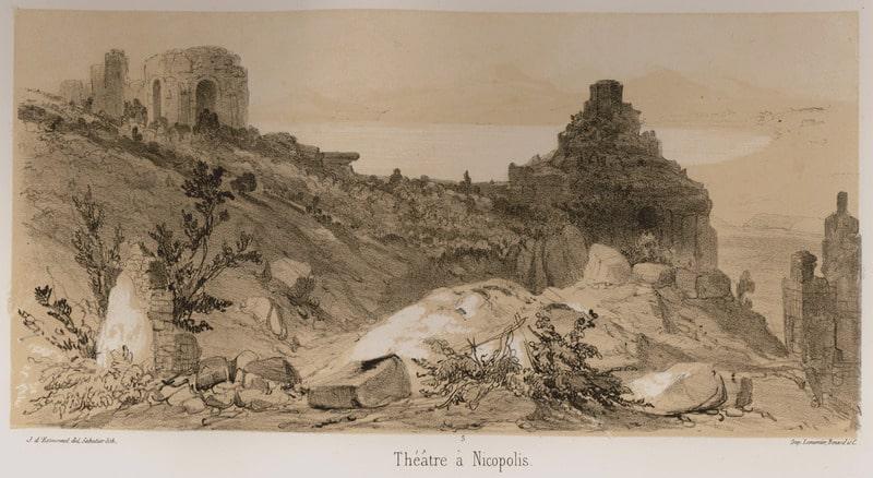 Drawing of the Theater. Comte Joseph d'Estourmel, 1848