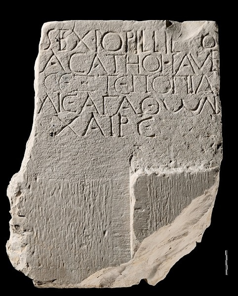 Bilingual grave stele