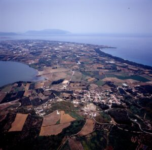 Aerial photo of the Preveza peninsula