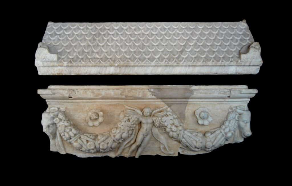 Marble sarcophagus of local workshop